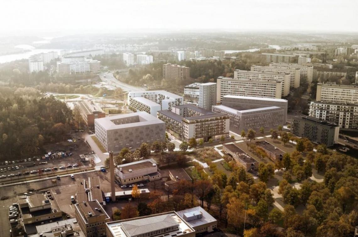 """""""Skalden"""" kvartāla daudzstāvu ēkas Zviedrijā"""